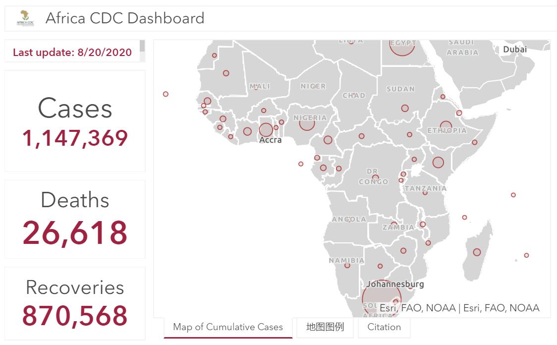 非洲大陆新冠肺炎确诊病例超114万