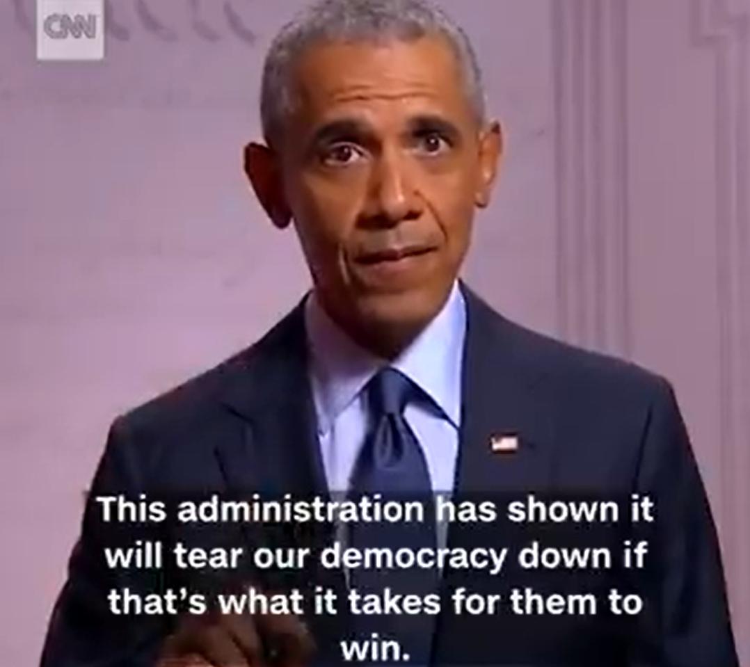 """""""特朗普政府将摧毁我们的民主"""",视频截图"""