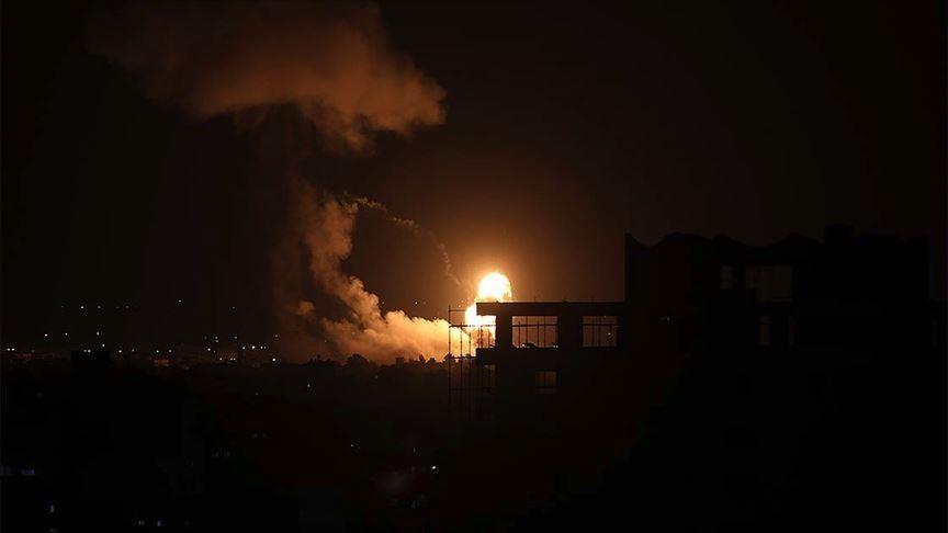 以色列炮击加沙瞬间