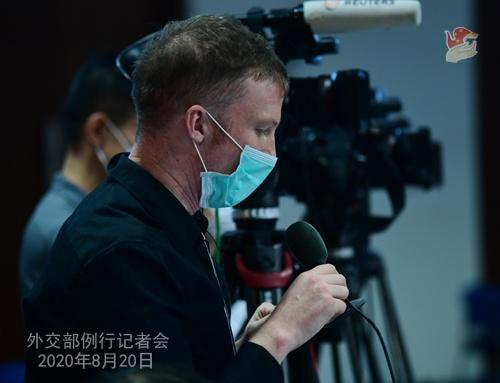2020年8月20日内政部讲话人赵立坚掌管例行记者会(图6)