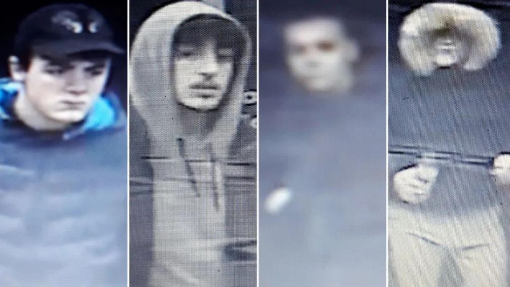 △监控显示当时涉案的四位英国青年