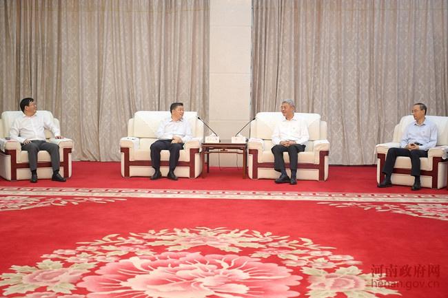 省政府与国开行中国信保签约尹弘出席签约仪式并与欧阳卫民蔡希良会谈