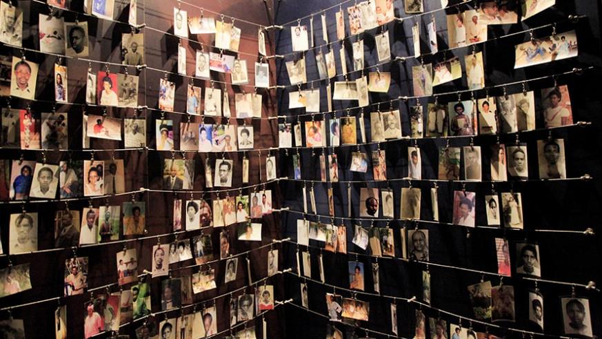 △图为卢旺达大屠杀纪念馆内的受害者照片 图片来源:卢旺达新时代报(The New Times)