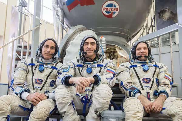 国际空间站三名驻守宇航员(NASA)