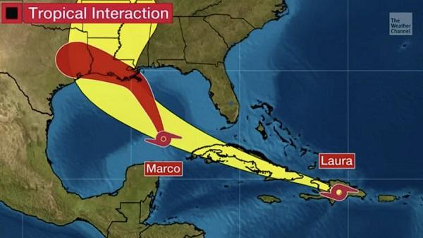 百年未见!墨西哥湾两个热带风暴或将增强为飓风