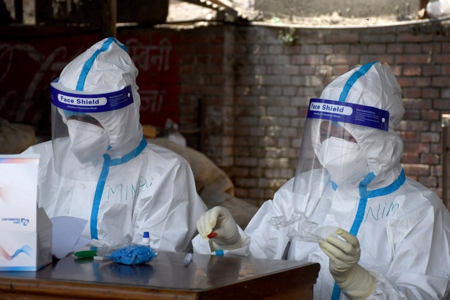 尼泊尔至少有454名医护人员已感染新冠肺炎