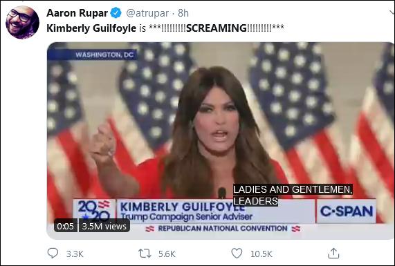 小特朗普女友咆哮式演讲力挺特朗普,美国网民群嘲