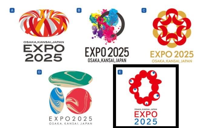 日本大阪世博会会徽公布 网民表示看上去很诡异(图)
