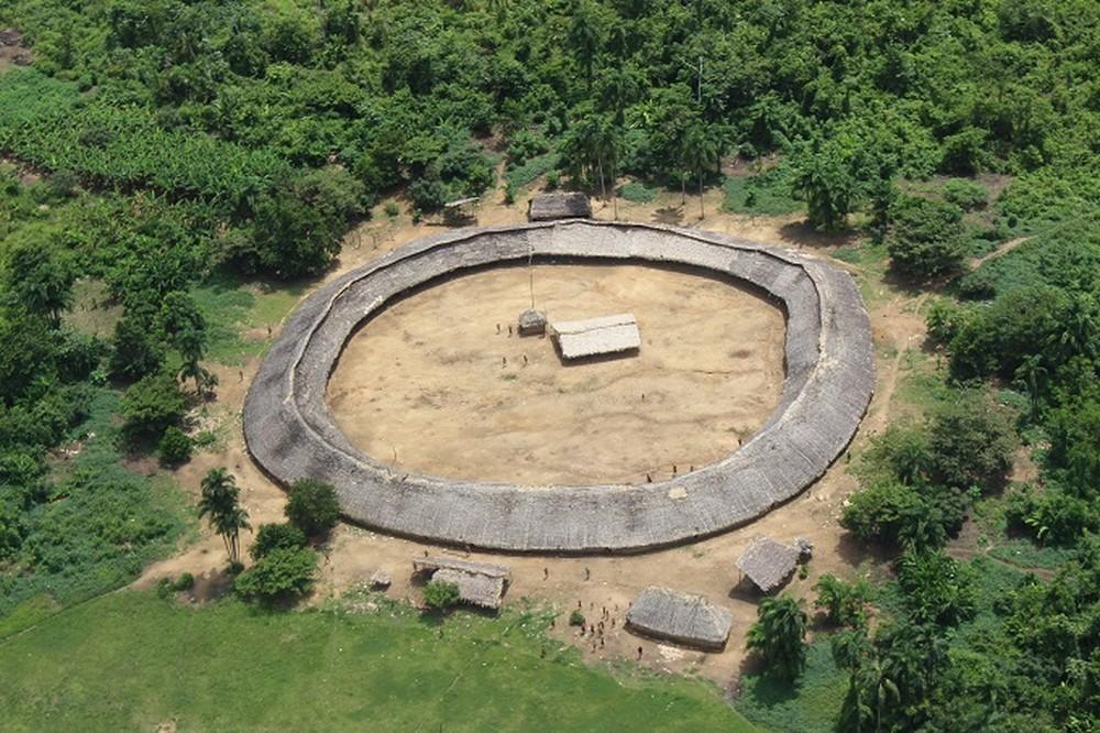 △亚马孙地区亚诺马米原住民领地(图片来源:巴西媒体环球网)