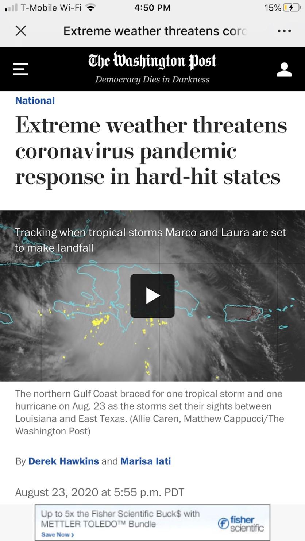 祸不单行 两场飓风接连登陆美国