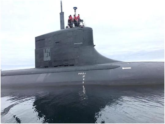 美最机密潜艇五年来首次公开现身 位置离俄罗斯很近