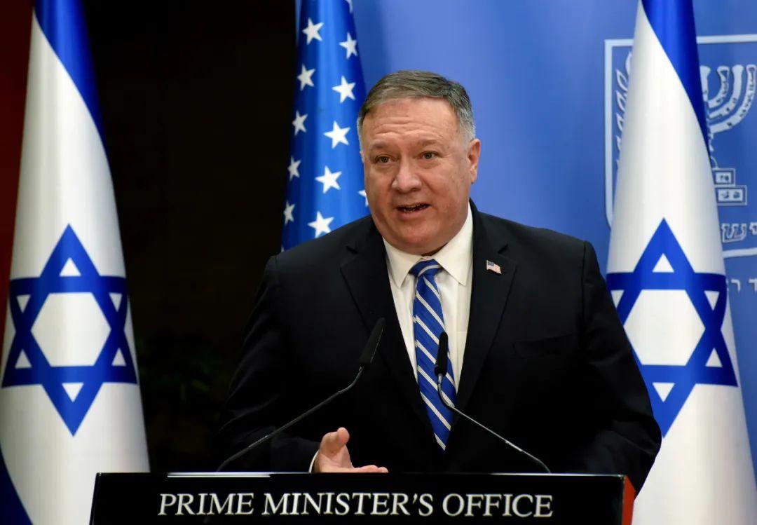 8月24日,蓬佩奥在以色列访问。新华社/路透社