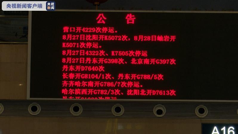 """""""巴威""""来袭 沈阳铁路部分暂时停运108列搭客列车"""