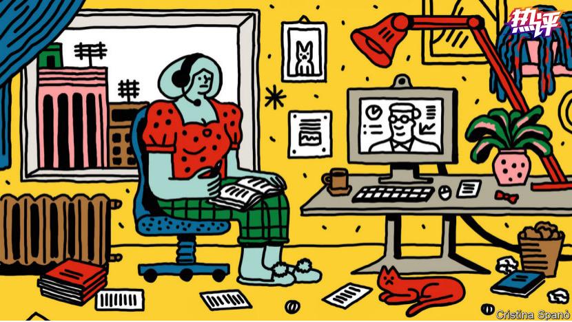 △英國《經濟學人》刊登的網課漫畫