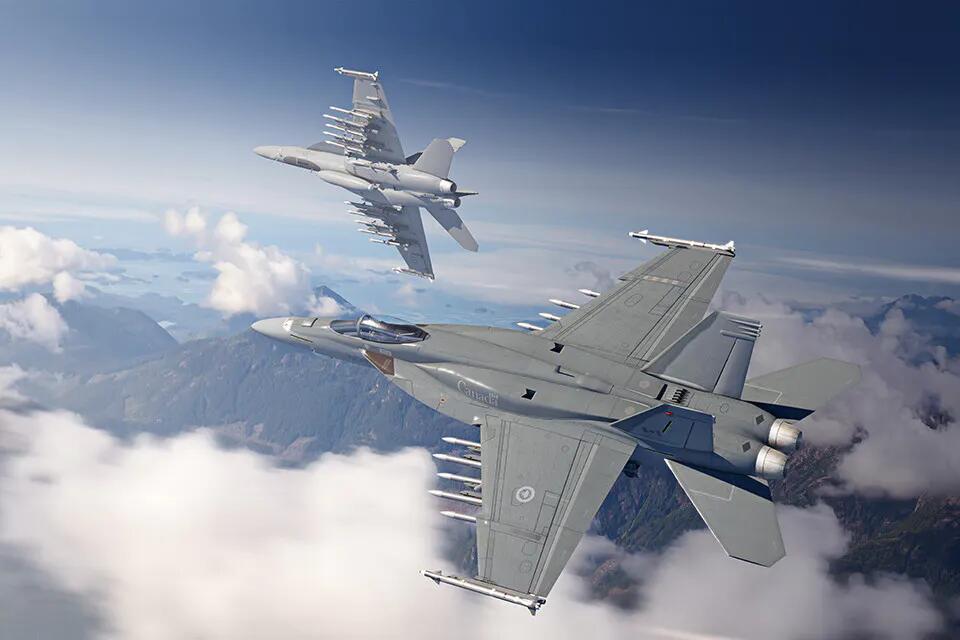 美向加拿大推销最新超级大黄蜂战机挂14枚导弹亮相