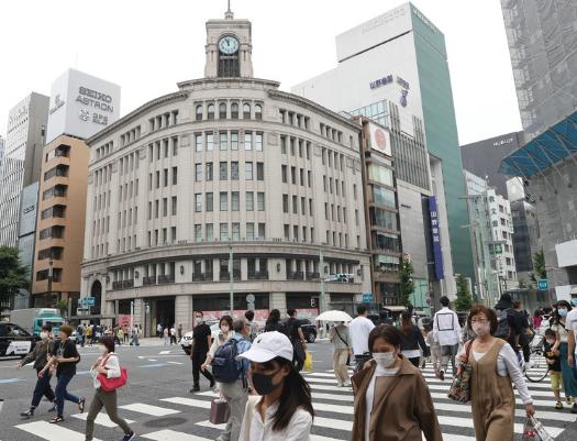 资料图:日本街头(时事通讯社)