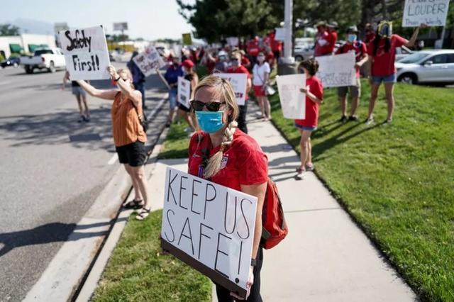 美国多地教师反对疫情下仓促开学:不想成为被牺牲的羔羊