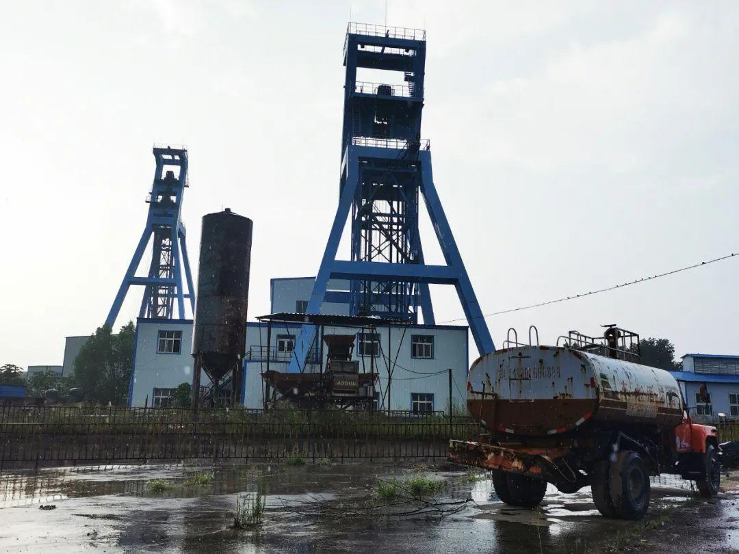 许昌铁矿部门矿建立施。记者 李金红 摄