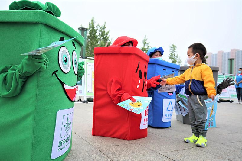 北京市平谷区滨河街道与餐饮企业签订垃圾分类协议