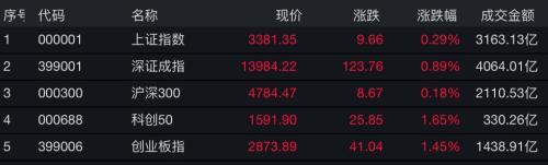 三大指数强势翻红 半导体迎政策利好 中芯国际概念股仅1只下跌!但最强势的却是这个板块
