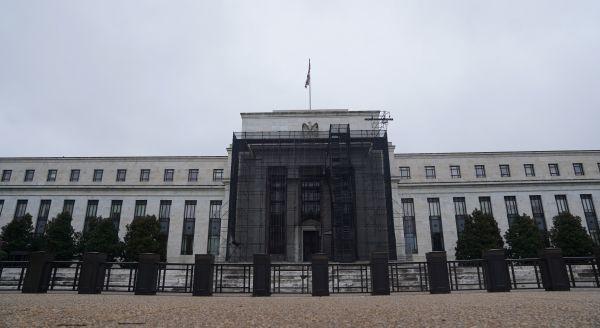 这是7月29日在美国华盛顿拍摄的美联储大楼。新华社记者 刘杰 摄