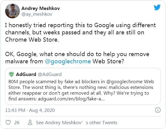又一批 Chrome 恶意扩展公布:拦截谷歌和必应搜索,插入广告