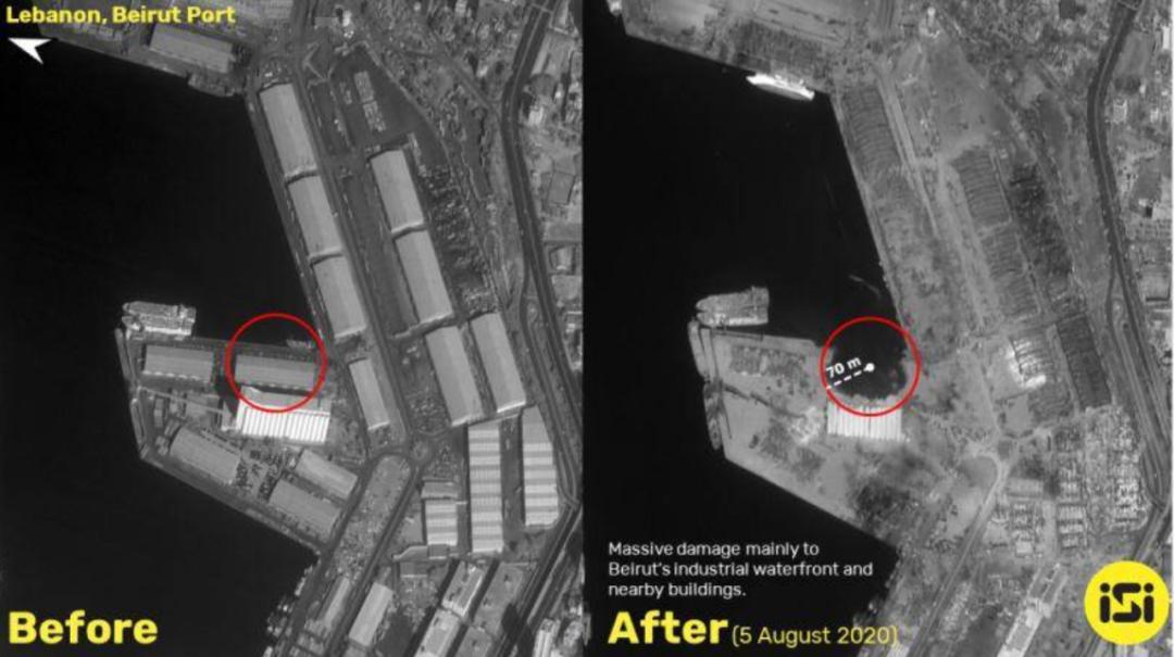 港口损失或超百亿美元!黎巴嫩爆炸前后对比触目惊心
