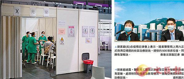 医院床位紧张未能及时分流新冠病人,香港亚博馆拟增加负压舱