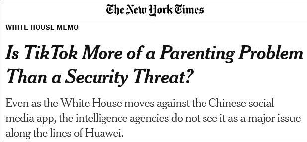 CIA:没有证据显示中国政府获取TikTok用户数据