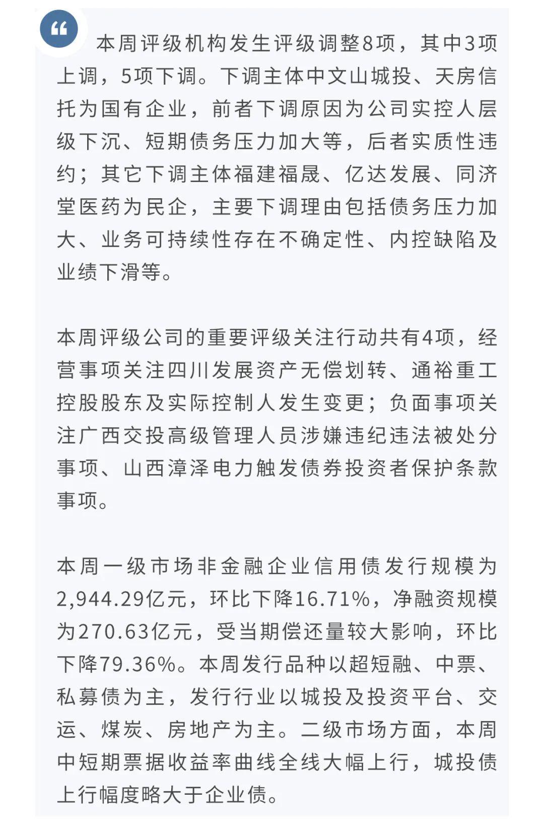 【信用】兴业研究信用观察周报(第27期) 2020.8.24—2020.8.28