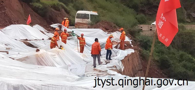 [青海]果洛公路总段持续加强G227线路基滑移路段安全保障工作(图)