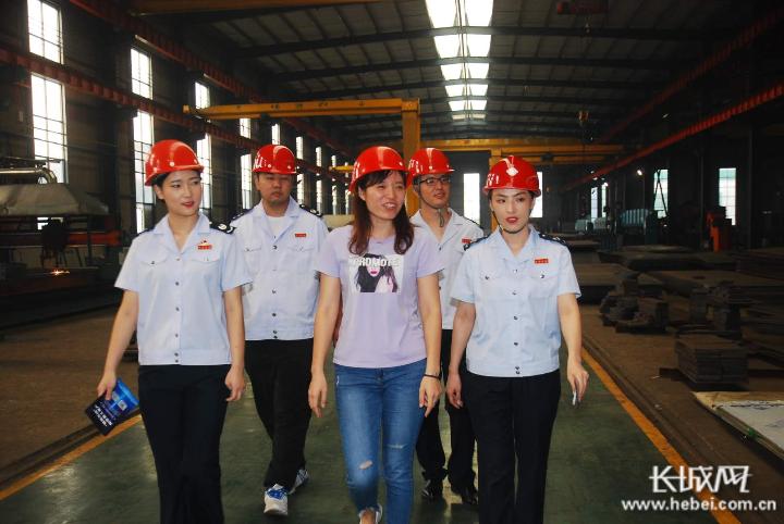 广宗县税务干部深入重点企业走访