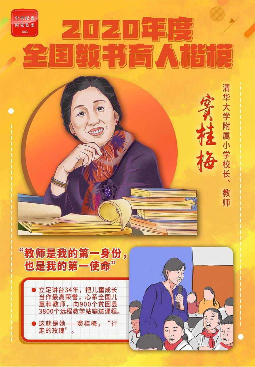 手绘海报丨为党育人、为国育才,致敬全国教书育人楷模图片