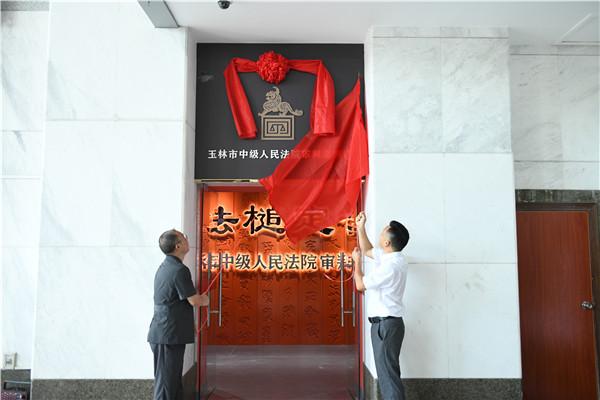 玉林中院:开馆了! 审判案例馆正式开放图片
