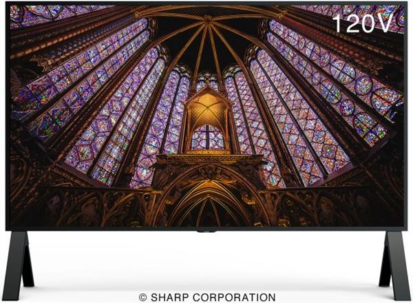 夏普发布新一代120寸8K电视:120Hz刷新率+HDMI 2.1接口、2048分区背光