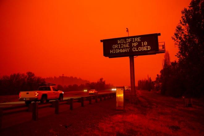 俄勒冈全州超50万人因山火被迫疏散