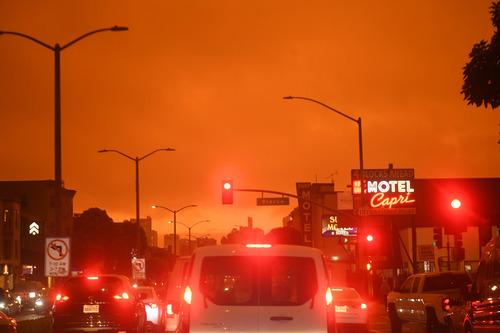 这是9月9日中午拍摄的美国加利福尼亚州旧金山街景。新华社记者 吴晓凌 摄