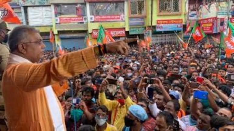 """智熄!印度议员集会上高呼""""疫情结束"""" 人群沸腾了"""