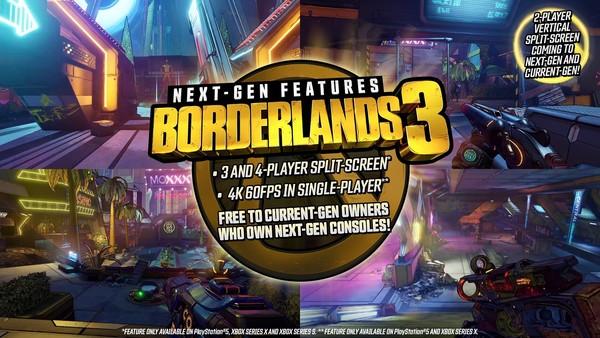 《无主之地3》将登陆PS5和Xbox Series 老玩家有福利