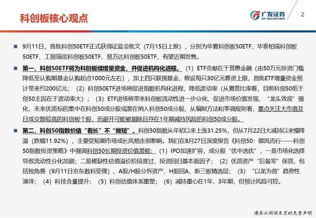 【广发策略|科创板】首批ETF获批,被动投资启航