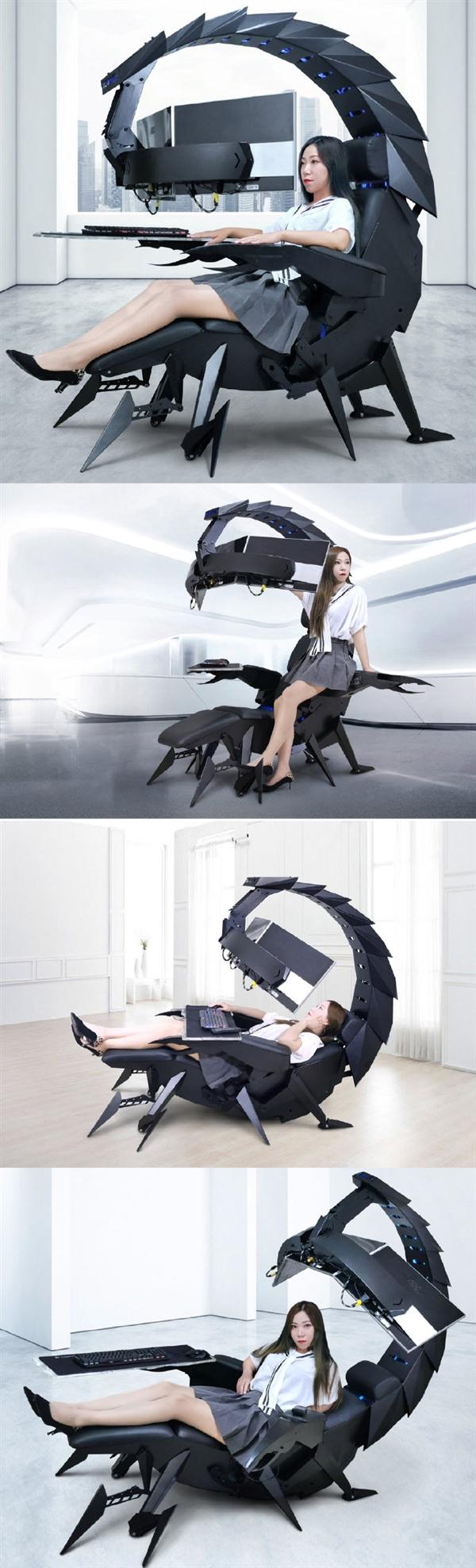 蝎子造型零重力游戏椅子 外形设计超科幻
