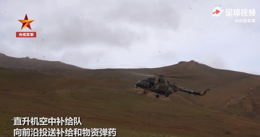 陆航某旅向前沿投送补给和物资弹药