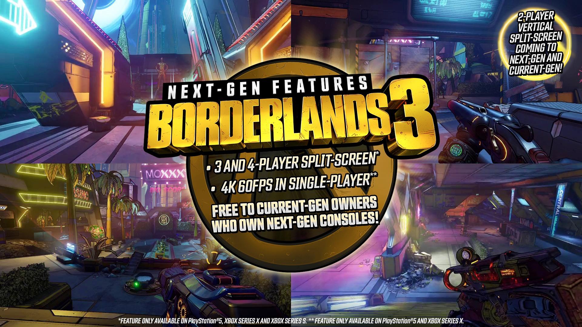 《无主之地3》宣布登陆PS5和Xbox Series 玩家可免费升级
