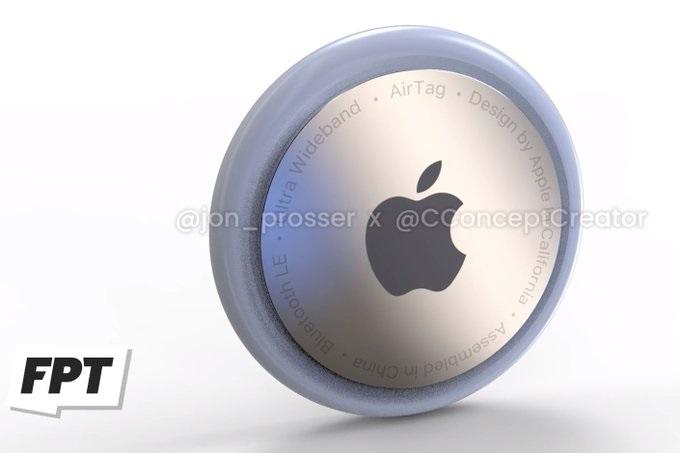 苹果追踪配件AirTags谍照曝光:圆形按钮设计