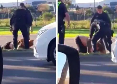 澳大利亚警察脚踩逃跑病人头部 还用汽车直接撞