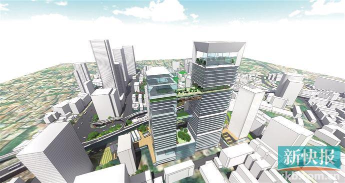 """■198米""""越秀之心""""局部设计城市级空中文化连廊。"""