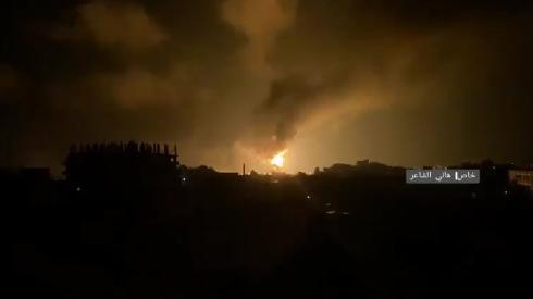 △以色列国防军空中打击加沙地带哈马斯阵地 (网图)