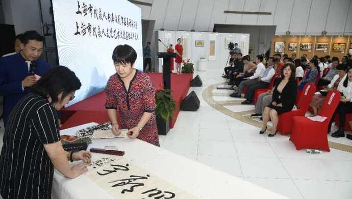 疫情期间他们真情创作,上海市残疾人书画摄影作品展开幕,揭晓这些大奖图片