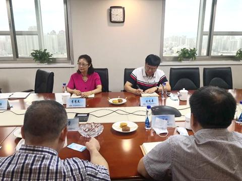 天津海事法院到天津中远海运集装箱运输有限公司调研图片