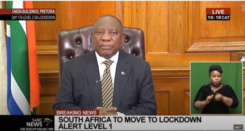 南非开放国际航空 疫情级别下调到1级